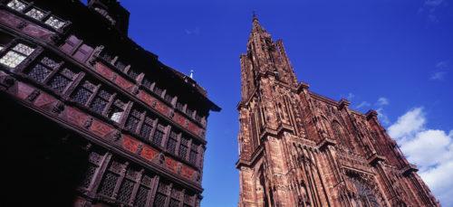 Strasbourgin katedraali on vaikuttava. Kuva OT Strasbourg.