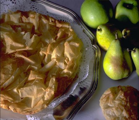 Ranskalainen omenapiirakka ja ranskalainen päärynäpiirakka