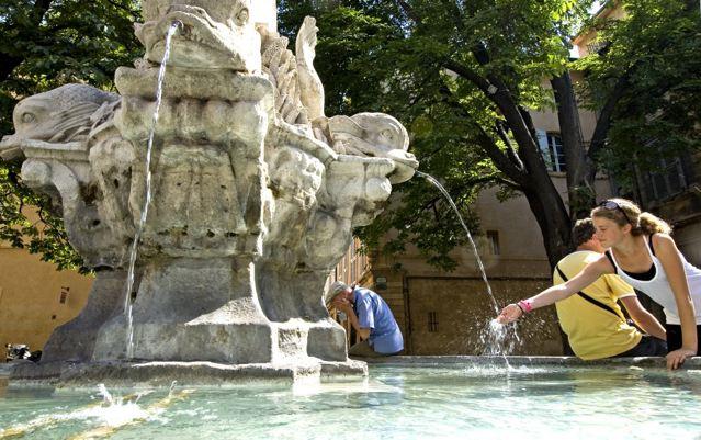 Aix on suihkulähteiden kaupunki.