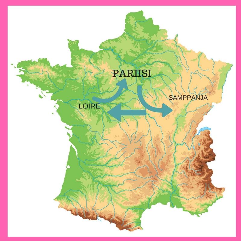 Champagnen Ja Loiren Viinialueet Samalla Matkalla