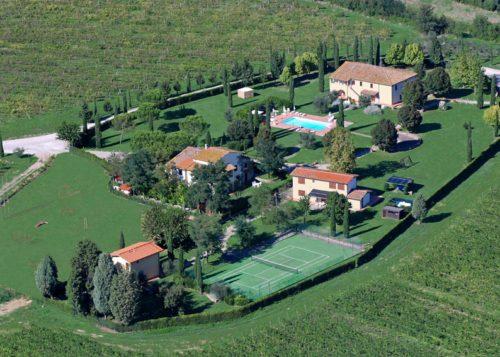 Toscanan idylliä maaseudun rauhassa.