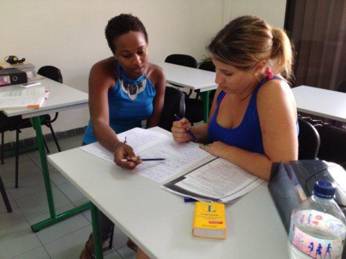 Ranskan kielen oppitunti Martiniquella.