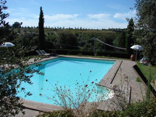 Uima-altaalla on mukava rentoutua ratsastuspäivän jälkeen.